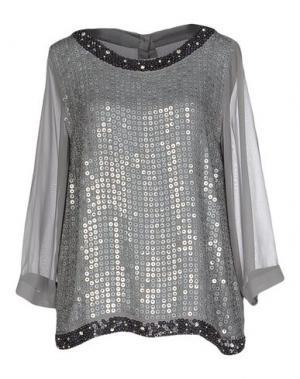 Блузка ANNA RACHELE. Цвет: серый