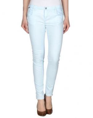 Повседневные брюки REIKO. Цвет: небесно-голубой