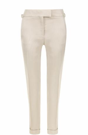Укороченные брюки со стрелками и отворотами Tom Ford. Цвет: бежевый