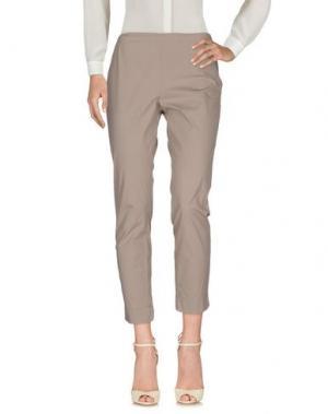 Повседневные брюки MALÌPARMI. Цвет: серый