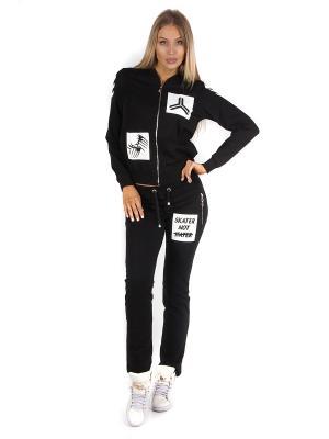 Спортивный костюм WHITNEY. Цвет: черный