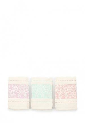 Комплект полотенец 3 шт. Sofi De Marko. Цвет: бежевый