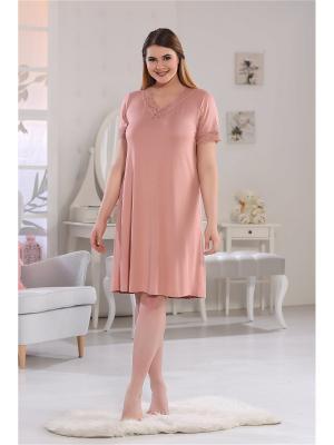 Ночная сорочка SEVIM. Цвет: персиковый