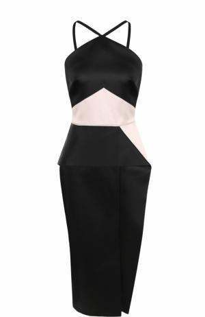 Платье-футляр без рукавов Roland Mouret. Цвет: черно-белый
