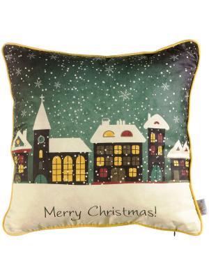 Чехол для декоративной подушки  Новогодняя сказка Apolena. Цвет: зеленый