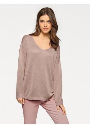 Пуловер LINEA TESINI by Heine. Цвет: телесный