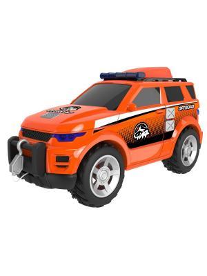 Машинка Roadsterz Внедорожник 4х4 со светом и звуком HTI. Цвет: оранжевый