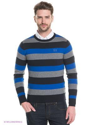 Джемпер Sweet years. Цвет: синий, серый, черный