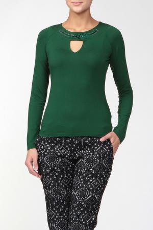 Блуза Roccobarocco. Цвет: зеленый