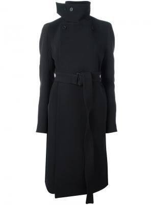 Двубортное пальто Rick Owens. Цвет: чёрный