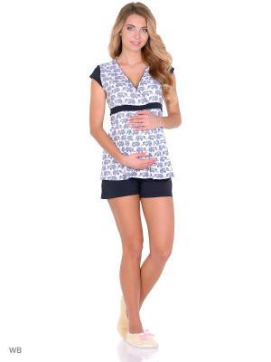Комплект для беременных и кормящих FEST. Цвет: темно-синий, белый
