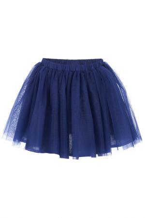 Юбка Button Blue. Цвет: темно-синий
