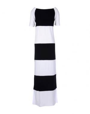Длинное платье CARLA G.. Цвет: белый