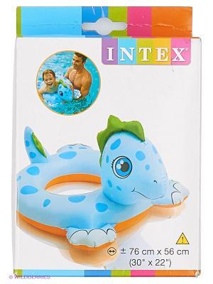 Надувной круг Дракон Intex. Цвет: голубой, оранжевый