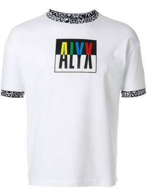 Футболка с логотипом Alix. Цвет: белый