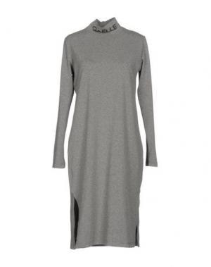 Платье до колена GAëLLE. Цвет: серый
