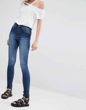Cheap Monday Облегающие джинсы. Цвет: синий