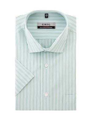 Рубашки GREG. Цвет: светло-зеленый, белый