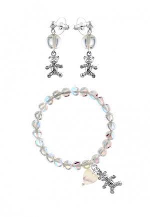 Комплект браслет и серьги Anna Slavutina. Цвет: серебряный