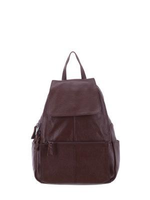 Рюкзак S008 натуральная кожа Sara. Цвет: светло-коричневый