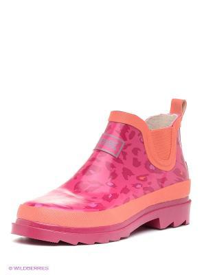 Резиновые сапоги REGATTA. Цвет: розовый, оранжевый