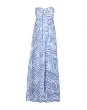 Длинное платье HEIDI KLEIN. Цвет: лазурный
