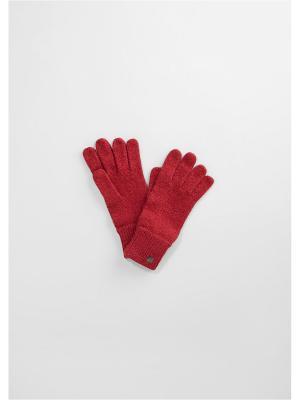 Перчатки S.OLIVER. Цвет: красный