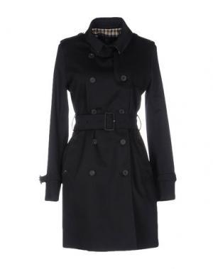 Легкое пальто AQUASCUTUM. Цвет: темно-синий