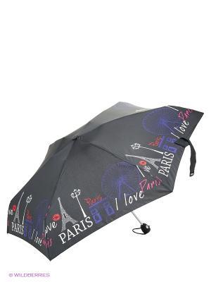Зонт Isotoner. Цвет: черный, голубой, белый