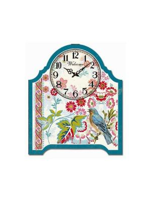 Часы настольные Соловей Magic Home. Цвет: бирюзовый