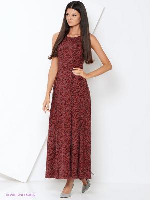 Платье МадаМ Т. Цвет: терракотовый, бежевый, серый