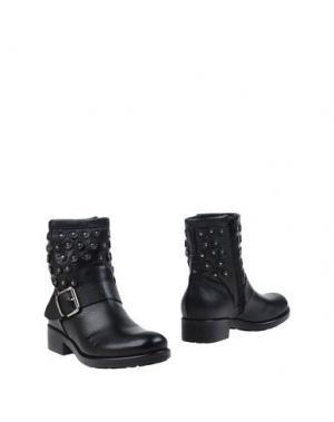 Полусапоги и высокие ботинки EMANUELA PASSERI. Цвет: черный