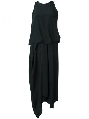 Платье Tuck Drape Chalayan. Цвет: чёрный