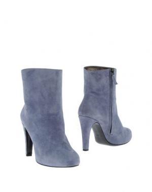Полусапоги и высокие ботинки NEW YORK INDUSTRIE. Цвет: серый