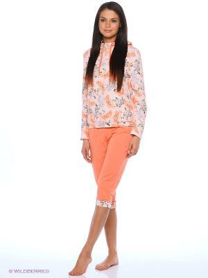 Пижамы Lui et Elle. Цвет: коралловый, белый