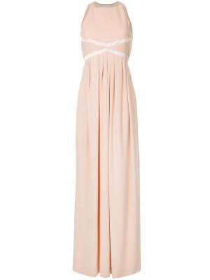 Вечернее платье с круглым вырезом Dice Kayek. Цвет: розовый и фиолетовый