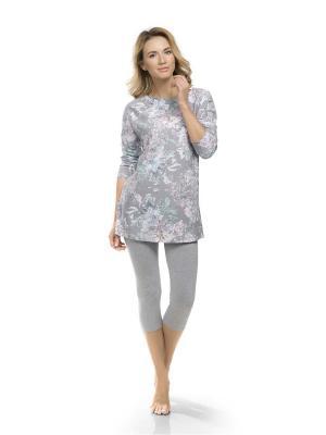 Пижама PELICAN. Цвет: серый