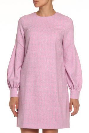 Платье-миди NATALIA PICARIELLO. Цвет: розовый