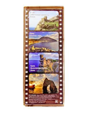 Твердое натуральное мыло Персиковое Крымская Натуральная Коллекция. Цвет: коричневый