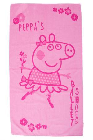 Полотенце махровое 30х60 СВИНКА ПЕППА. Цвет: розовый