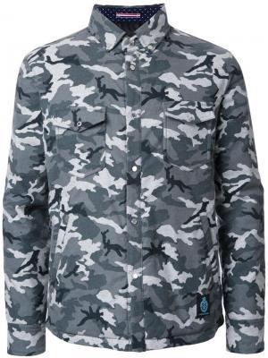 Стеганая куртка с камуфляжным принтом Guild Prime. Цвет: серый