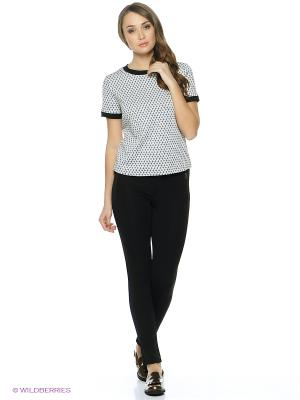 Блузка INCITY. Цвет: черный, белый