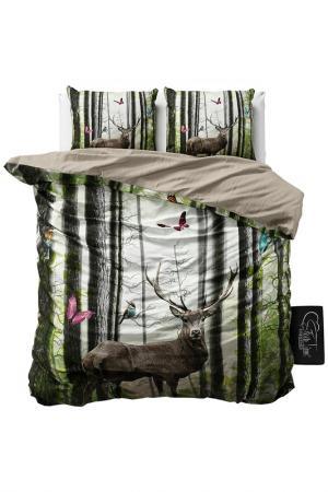 Комплект постельного белья Евро Sleeptime. Цвет: green