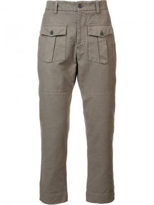 Cargo pocket trousers Wooster + Lardini. Цвет: коричневый