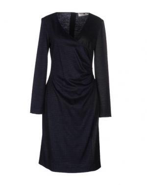 Платье до колена NINE. Цвет: темно-синий