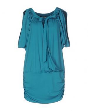 Короткое платье GIO' GUERRERI. Цвет: бирюзовый