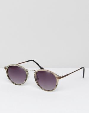 Jeepers Peepers Круглые солнцезащитные очки. Цвет: очистить
