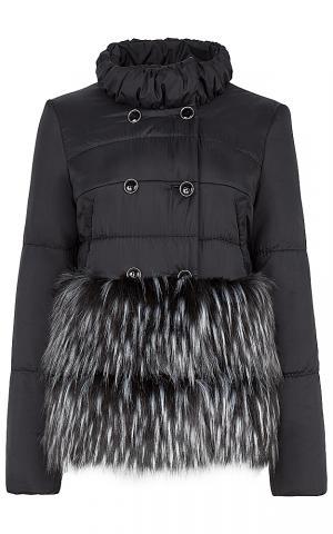 Утепленная куртка с меховым декором Элема