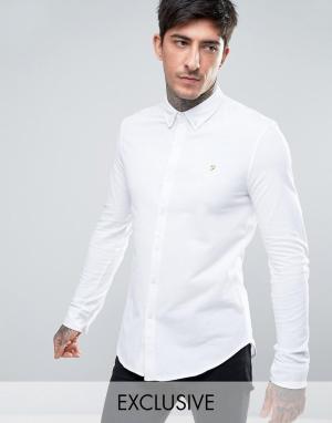 Farah Белая трикотажная рубашка эксклюзивно для. Цвет: белый