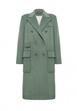 Пальто Lucky Move. Цвет: зеленый
